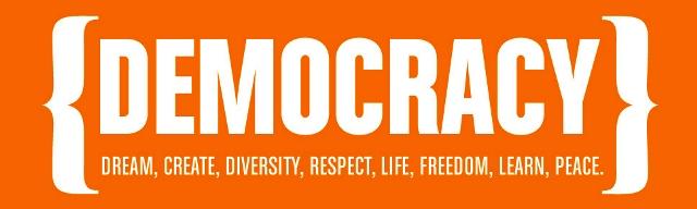 We define democracy, n...